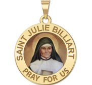 Saint Julie Billiart Round Religious Medal Color