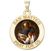 San Matteo Color Religious Medal  EXCLUSIVE