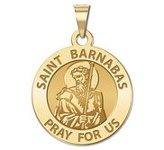 Saint Barnabas Round Religious Medal  EXCLUSIVE