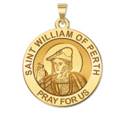 Saint William of Perth Round Religious Medal
