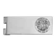 Stainless Steel Engravable Saint Francis of Assisi Money Clip