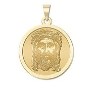 Holy Face of Jesus Round Religious Medal   EXCLUSIVE