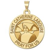 Saint Catherine Laboure Round Religious Medal    EXCLUSIVE