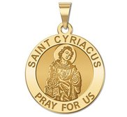 Saint Cyriacus Round Religious Medal    EXCLUSIVE