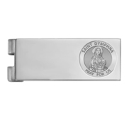 Stainless Steel Engravable Saint Dymphna Money Clip