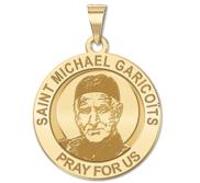 Saint Michael Garicoits Round Religious Medal   EXCLUSIVE