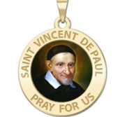 Saint Vincent De Paul Religious Medal Color