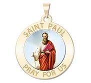 Saint Paul Religious Medal  Color EXCLUSIVE