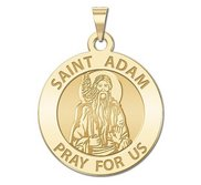 Saint Adam Round Religious Medal    EXCLUSIVE
