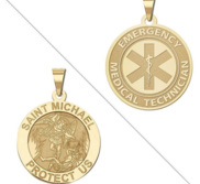 Saint Michael Double Sided EMT Medal