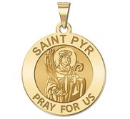 Saint Pyr Religious Medal  Round EXCLUSIVE