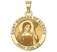 Saint Sigrada of Alsace Religious Medal  EXCLUSIVE