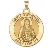 Saint Dwynwen Round Religious Medal  EXCLUSIVE