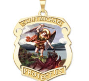 Saint Michael Color Badge  EXCLUSIVE