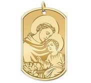 Saint Anthony   Dog Tag Religious Medal  EXCLUSIVE