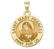 Saint Mary Frances Religious Medal  EXCLUSIVE