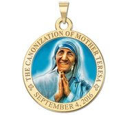 Canonization of Mother Teresa Commemorative Religious Medal in Color