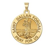 Saint Dallan Forgail Round Religious Medal  EXCLUSIVE