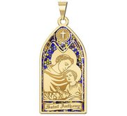 Saint Anthony   Stained Glass Religious Medal  EXCLUSIVE