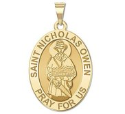 Saint Nicholas Owen OVAL Religious Medal   EXCLUSIVE