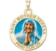 Saint Mother Teresa Religious Medal  EXCLUSIVE  In Color
