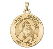 Saint Bernard of Menthon Round Religious Medal   EXCLUSIVE