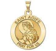 Saint Aoife Round Religious Medal   EXCLUSIVE