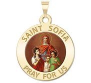 Saint Sofia w  Hope  Faith    Charity  Color Religious Medal  EXCLUSIVE