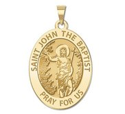Saint John the Baptist Religious Medal  EXCLUSIVE