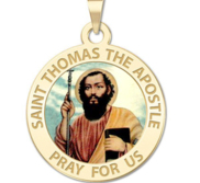 Saint Thomas the Apostle Religious Medal Color