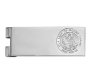 Stainless Steel Engravable Our Lady of Mount Money Clip