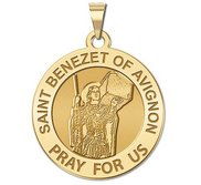 Saint Benezet of Avignon Round Religious Medal  EXCLUSIVE