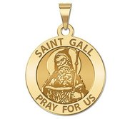 Saint Gall Round Religious Medal    EXCLUSIVE