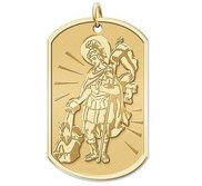Saint Florian Dog tag Religious Medal  EXCLUSIVE