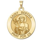 Saint Bertha Round Religious Medal   EXCLUSIVE