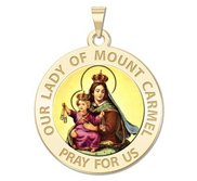 Our Lady of Mount Carmel Religious Medal   Color EXCLUSIVE