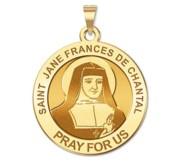 Saint Jane Frances De Chantal Round Religious Medal