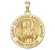Saint Claudius Apollinaris Round Religious Medal    EXCLUSIVE