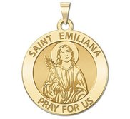 Saint Emiliana Round Religious Medal   EXCLUSIVE
