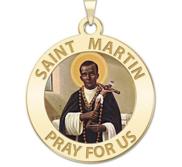 Saint Martin de Porres Religious Medal Color