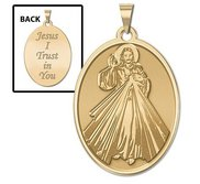 Divine Mercy Double Sided Oval Religious Medal  EXCLUSIVE