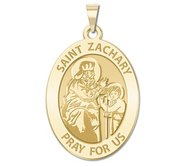 Saint Zachary Religious Medal   Oval   EXCLUSIVE