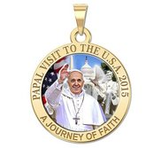 Pope Francis Papal Washington DC Visit 2015    A Journey of Faith  Color Medal