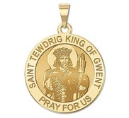 Saint Tewdrig King of Gwent Round Religious Medal   EXCLUSIVE