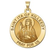 Saint Ita of Killeedy Round Religious Medal   EXCLUSIVE