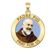Padre Pio Religious Medal  Color EXCLUSIVE