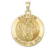 Personalized Baptism Religious Medal  EXCLUSIVE