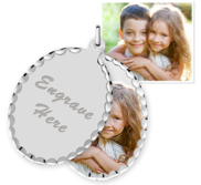 Oval Swivel Photo Pendant