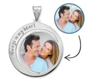 Custom Photo Engraved Round Charm or Pendant