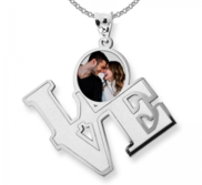 LOVE   Photo Engraved Necklace